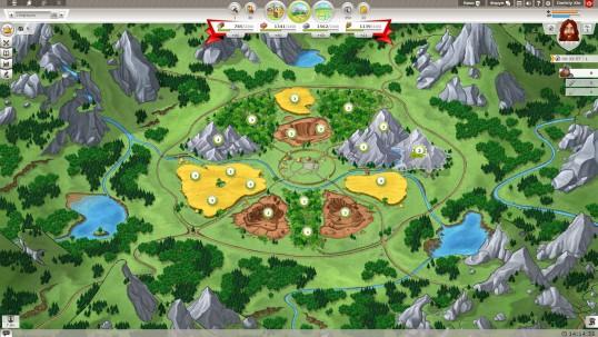 Travian Kindoms скриншот полей